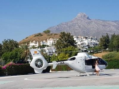 圆形直升机飞行和水疗体验