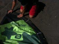 Colocando el kite