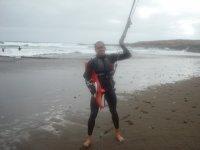 Posando despues del kitesurf