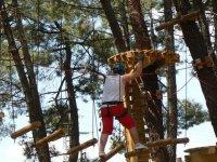 on hanging bridges