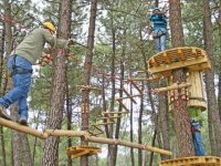 family in an adventure park
