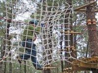 man among a net