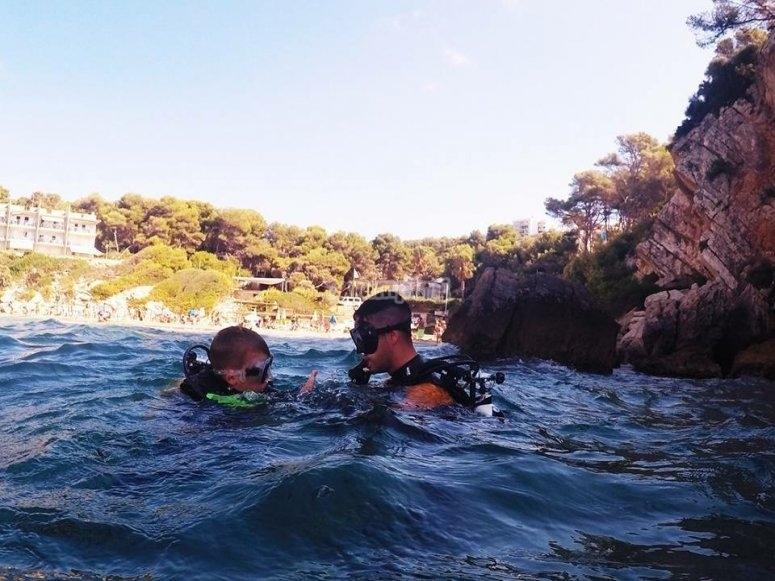 Inmersión en el mar