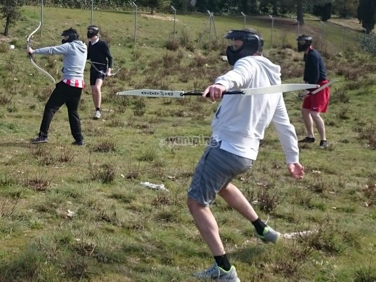 Archery tag for team building