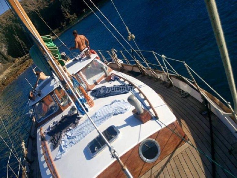Paseando en velero