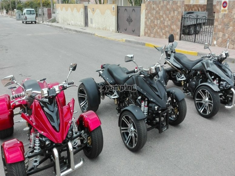 Different Spyder quads
