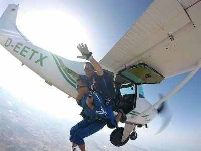 Skydiving jump in Totana with internal HD video