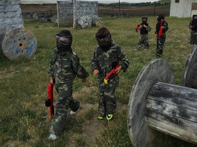 Paintball infantil y mini olimpiadas en Algete