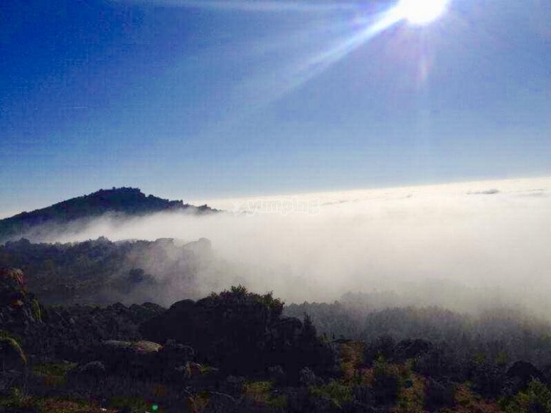 Le nuvole nella montagna