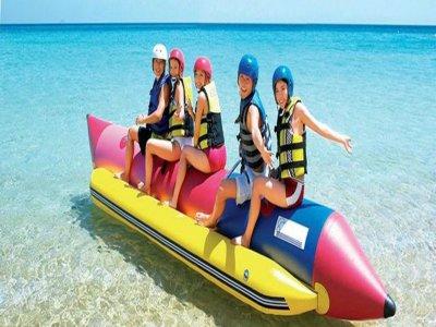 Banana boat 1 hora en Cadiz para despedidas