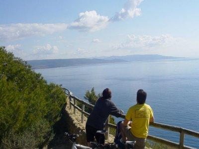 Ruta en bicicleta de montaña por Cádiz, niños