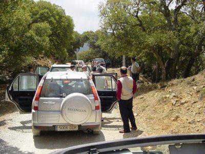 4x4路线通过Los Alcornocales +野餐