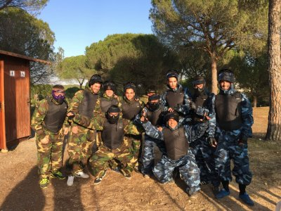 Partida de paintball en Cartaya de 100 bolas