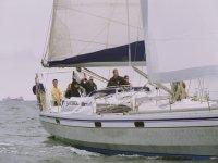 Salutando dalla barca
