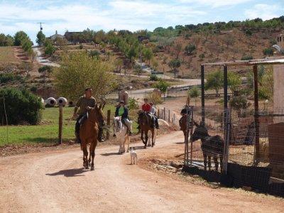Ruta a caballo por Montiel y Lagunas de Ruidera 2h