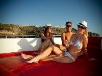 Champagne sulla barca
