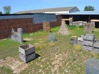 campo con cajas y monticulos de paja.JPG