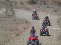 Quads por caminos de tierra en Malaga