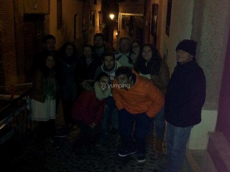 Amigos visitando Toledo