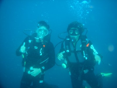 潜水洗礼圣克鲁斯德特内里费夫妇