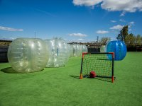 Bubble football in Navalcarnero