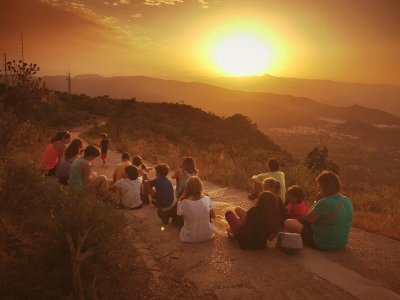 Hiking tour at sunset in Benicassim