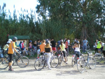 MTB at Ebro Delta nature park + lunch, kids