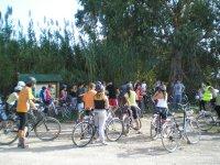 BTT Delta Ebro公园自然和食物孩子