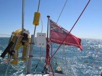 盖帆船掌舵的船