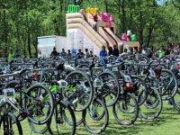 与自行车的半天山地自行车路线