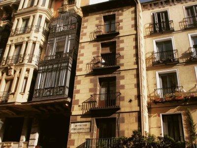 Visita a Madrid di Pérez Galdós, gruppo scolastico