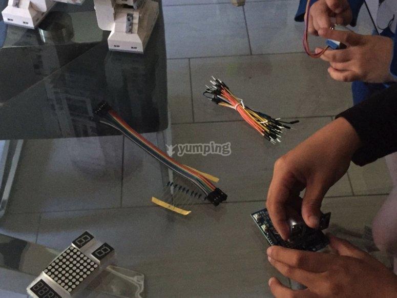 Preparando el robot