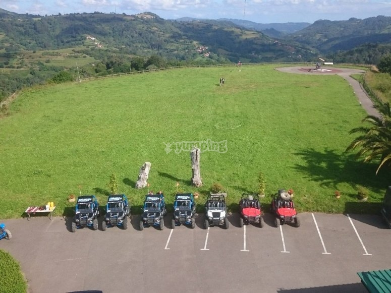 Buggies parked
