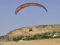 起飞动力伞串联航班