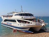 在布拉瓦海岸的Dofijets船路线