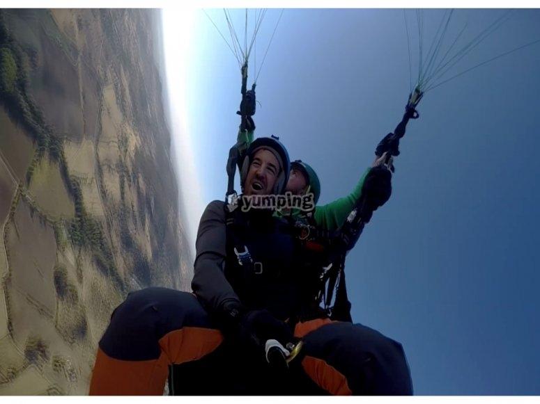 滑翔伞杂技