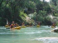 En el río Guadalope en kayak