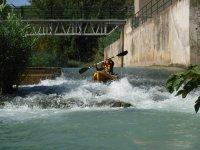 Tramos de rápidos con el kayak
