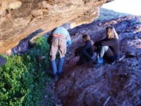 Explorando las grutas
