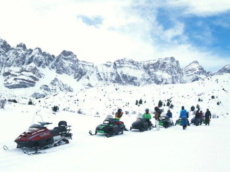 rutas en motos de nieve