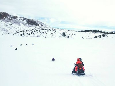 Snow Bike Route in La Partacua, 2h
