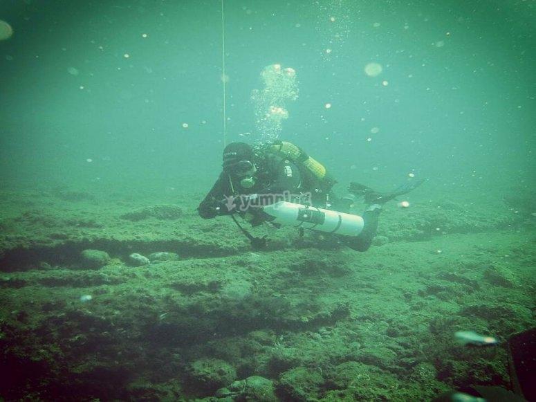 Durante la inmersión