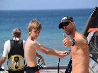 Clases de windsur adaptadas para los niños