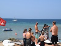 Clase de iniciación al windsurf