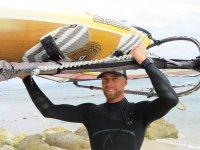 Nuestro instructor de windsurf