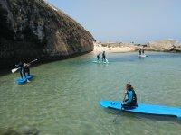 Clase de paddle surf en Tarifa