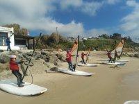 Curso de windsurf para niños en Tarifa