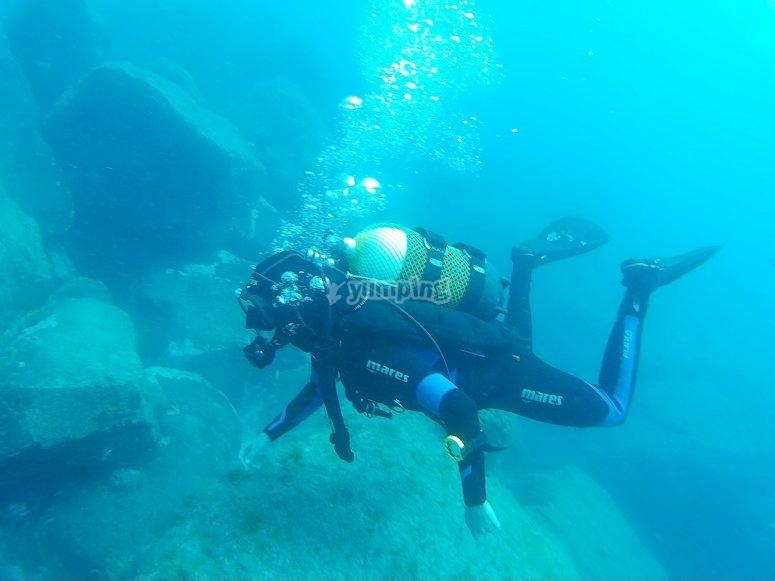 潜水出兰萨罗特水域