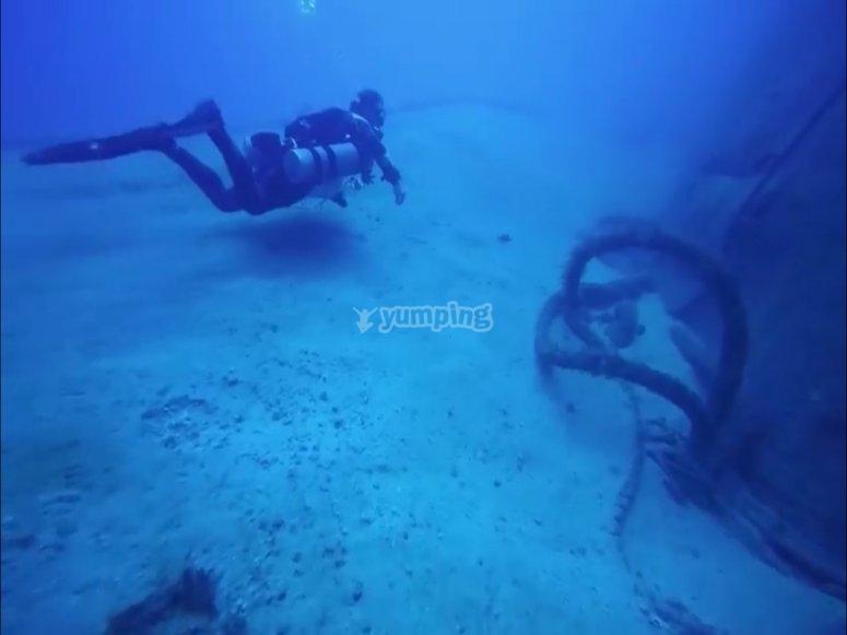兰萨罗特岛首次潜水