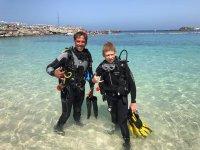 Bautismo de buceo en Lanzarote 4 horas